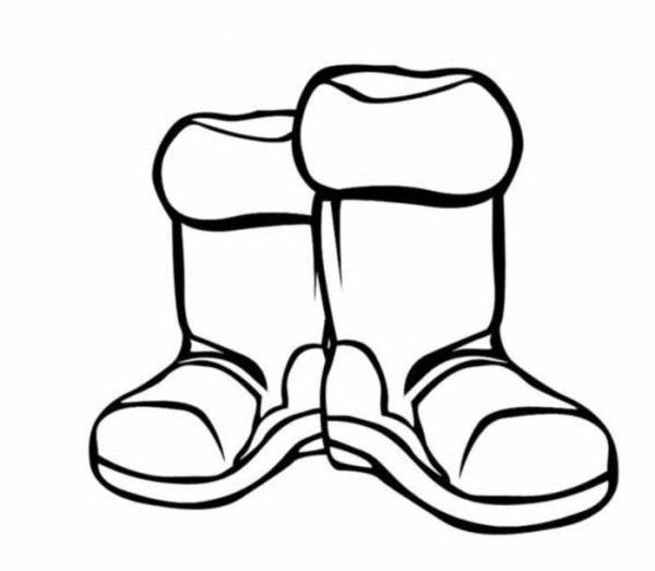 Boots Winter Clothes Coloring Page