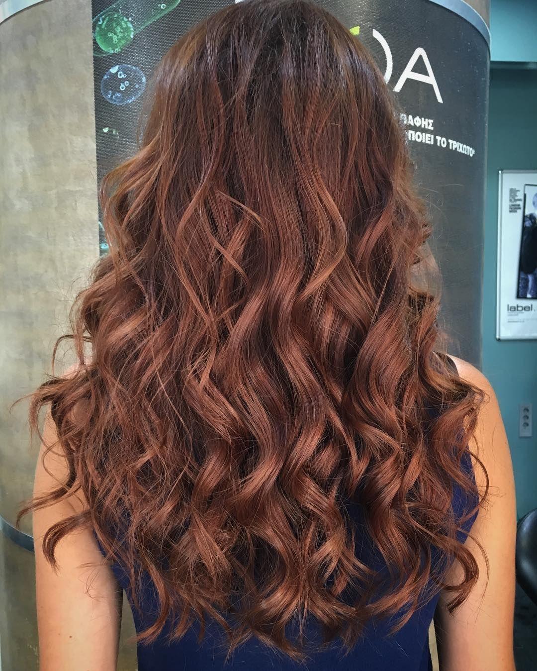 Copper Shimmer Waves Haar Pinterest Medium Brown Hair Hair
