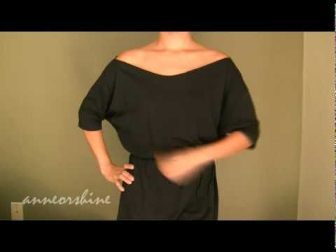 How To Create A Black Off The Shoulder Batwing Top In Less