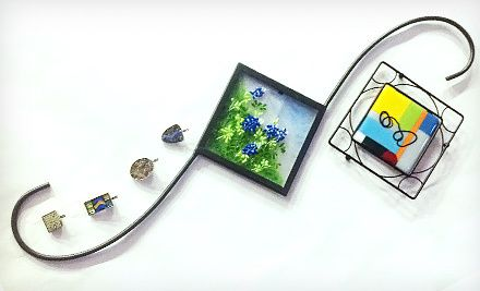 Stained-Glass Wall Art, Fused-Glass Plant Hook, or Micromosaic Pendants at Stained Glass Crafters Workbench (Half Off)