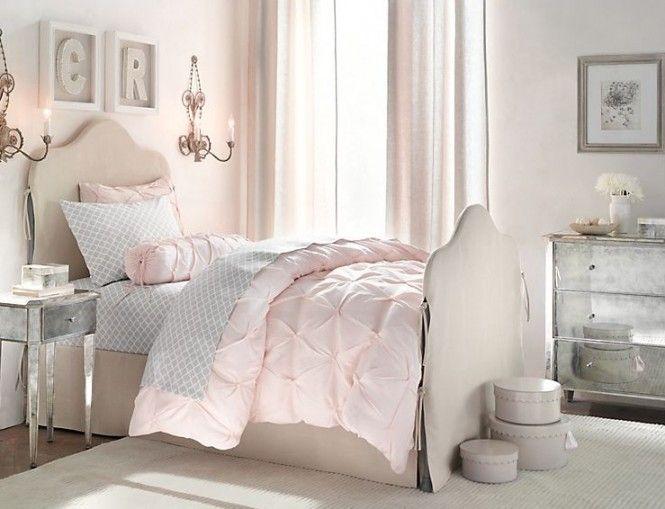 Rustic White Romantic Girls Room 4 Pink Girl Room Bedroom