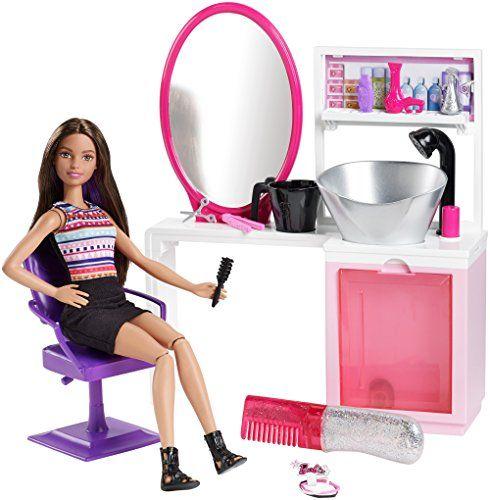 Mattel Barbie Sparkle Style Salon De Coiffure Pou Https Www Amazon Fr Dp B01cjkrfqk Ref Cm Sw R Pi Dp U X Ghoqabd62q1jm Barbie Mattel Barbie Doll