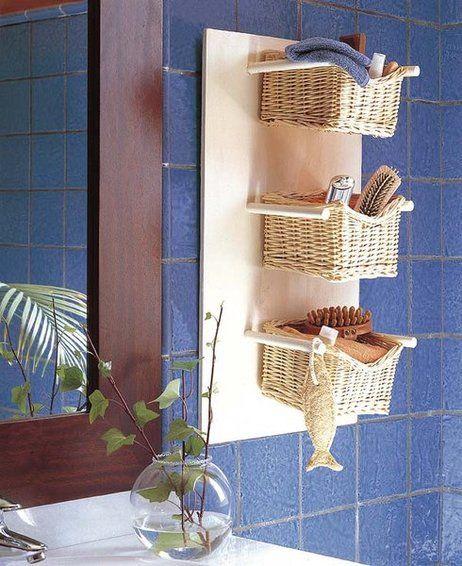 Decora y organiza el ba o de tu hogar con peque as cestas for Implementos para banos