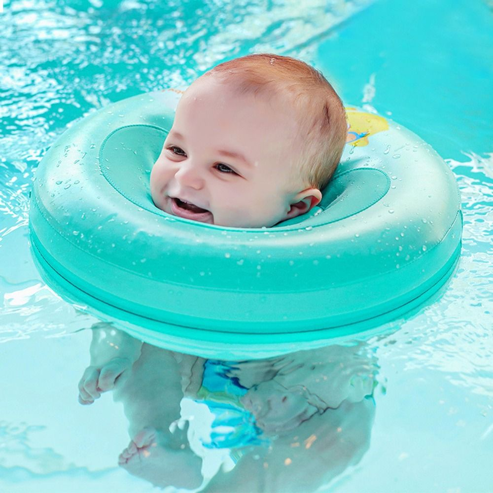 Safety Infant Kids Non Inflatable Floating Ring Round No Need Pump Air Baby Bath Circle Neck Swim Trainer Swimming A Baby Swimming Baby Water Toys Swim Trainer