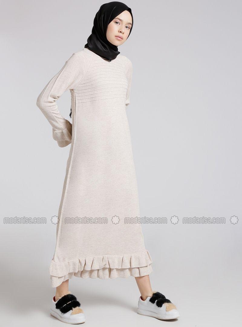 Triko Elbise Bej Benin Dresses Skirt Fashion Hijab Fashion