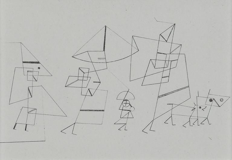 """after paul klee  """"familienspaziergang  tempo ii"""