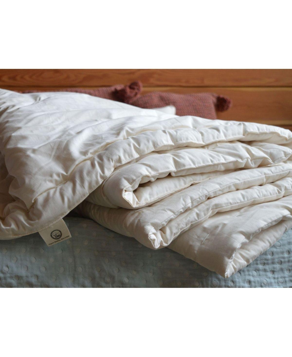 Holy Lamb Organics Natural Extra Warmth Wool Comforter In Organic Cotton Sateen Shell King Natural Mattress Furniture Organic Cotton Bed Styling