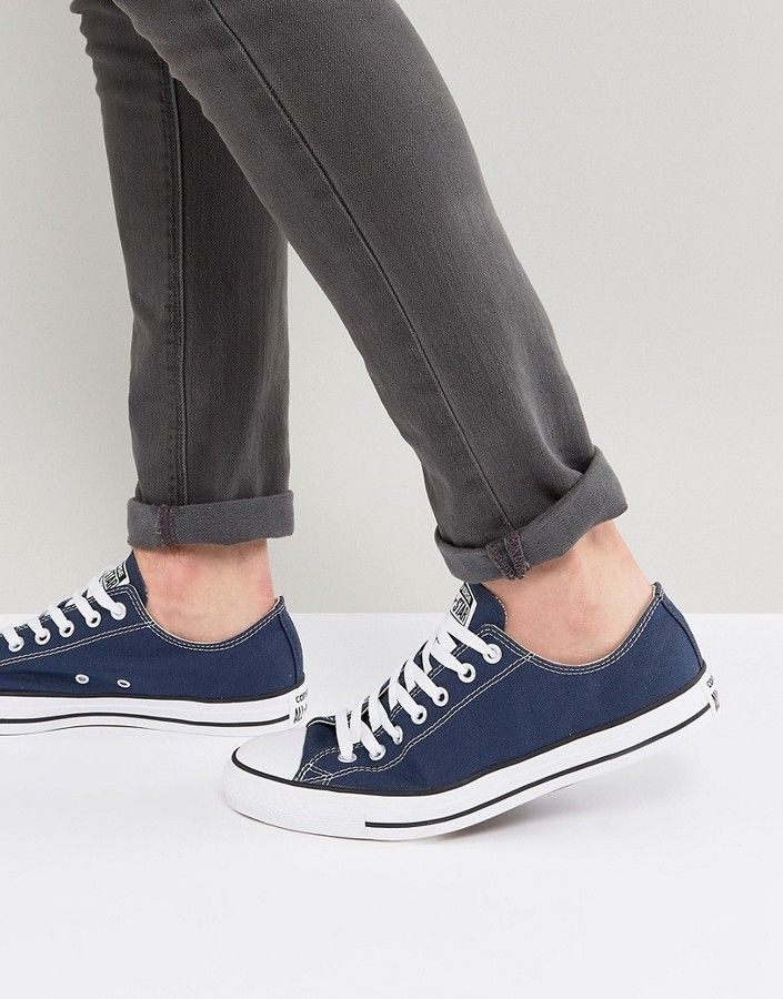 Converse Ox Sneakers In Navy M9697