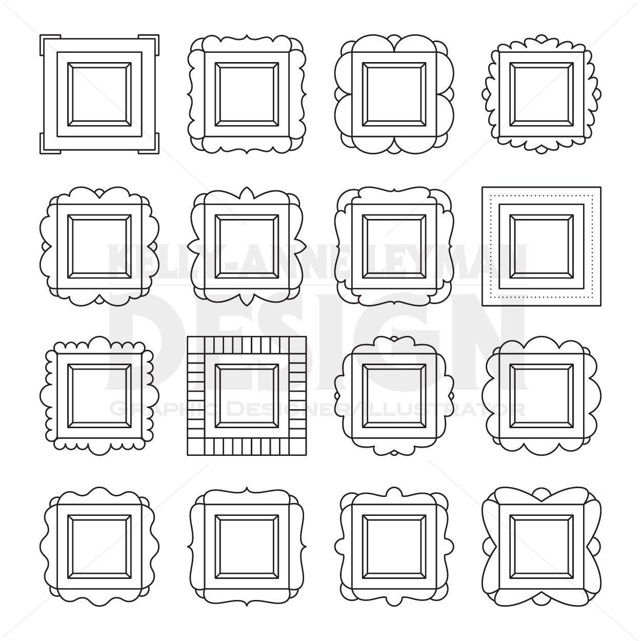 Pin By Decoptimiste On Wandgestaltung Annacb In 2021 Digital Frame Digital Labels Clip Art