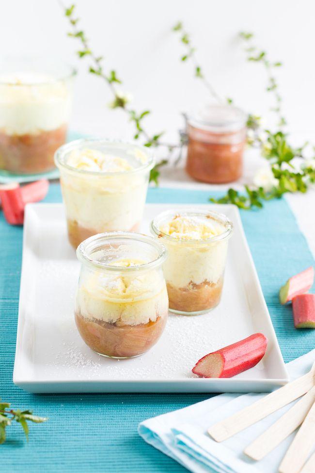 Quarkauflauf mit Rhabarber Kompott // Curd bake with rhubarb compote