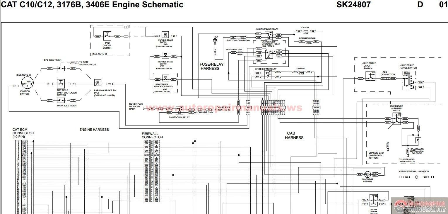 Wiring Diagram Cat 3406 Ecm Caterpillar 3406e Throughout Blurts Me For Caterpillar 3406e Wiring Diagram Cat Engines Diagram Electrical Wiring Diagram
