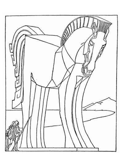 Trojan Horse Coloring Page Horse Coloring Pages Lego Coloring
