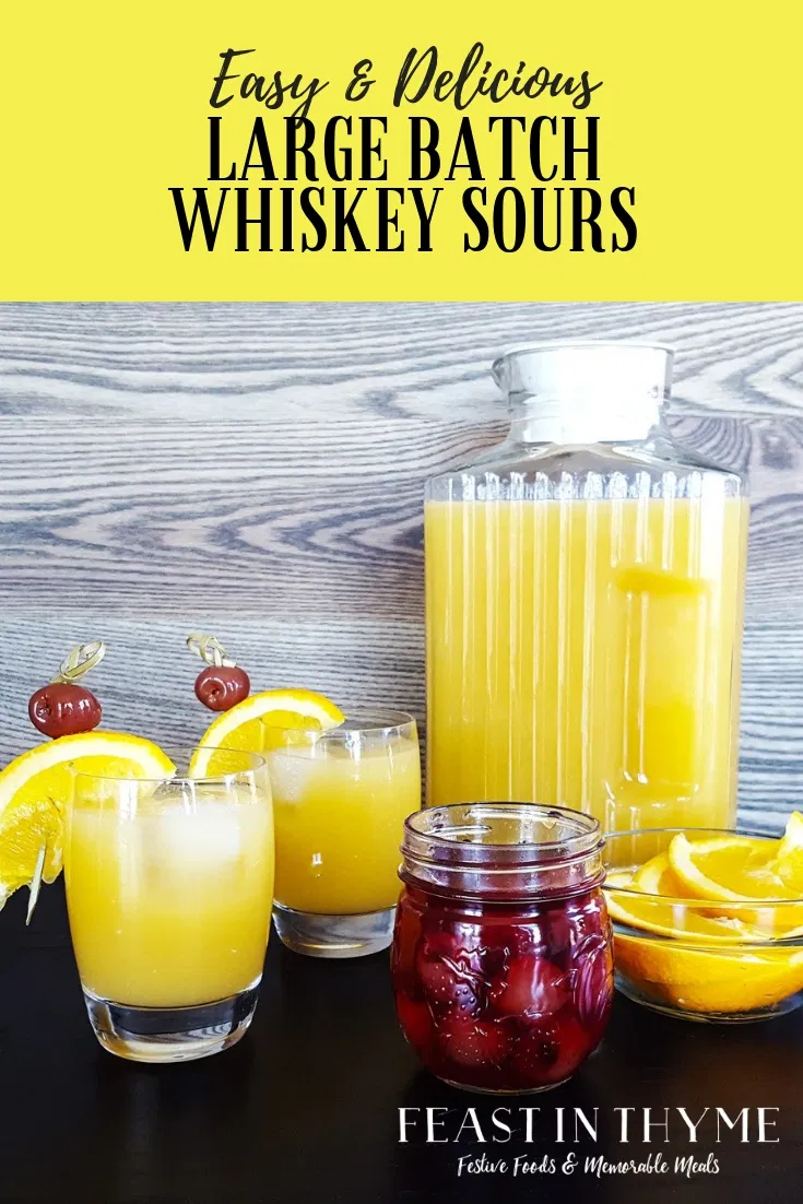 Photo of Large Batch Whiskey Sours   A Family Tradition
