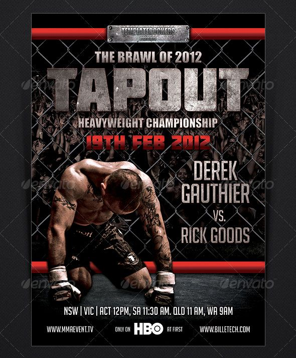 Tapout  Flyer  Design Graphic    Flyer Template