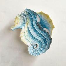 Sea Life Critter Seahorse Salad Plate | COastal Tableware | Pinterest | Salad plates Tablewares and Coastal & Sea Life Critter Seahorse Salad Plate | COastal Tableware ...