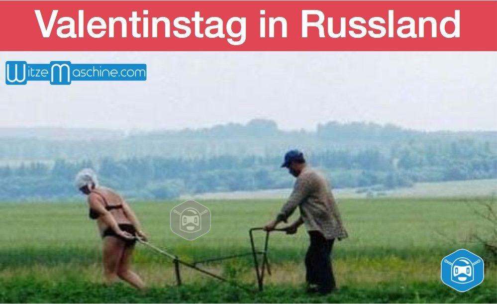 Valentinstag In Russland Romatisches Paar Bei Der Feldarbeit