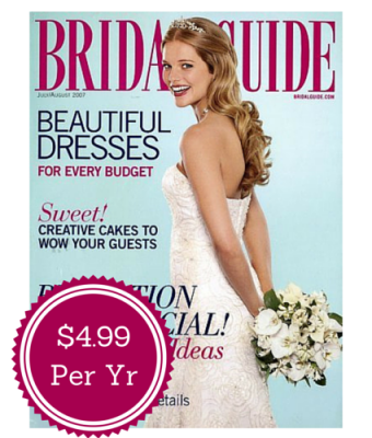 Great Deal!! Bridal Guide Magazine for Only 4.99 a Year