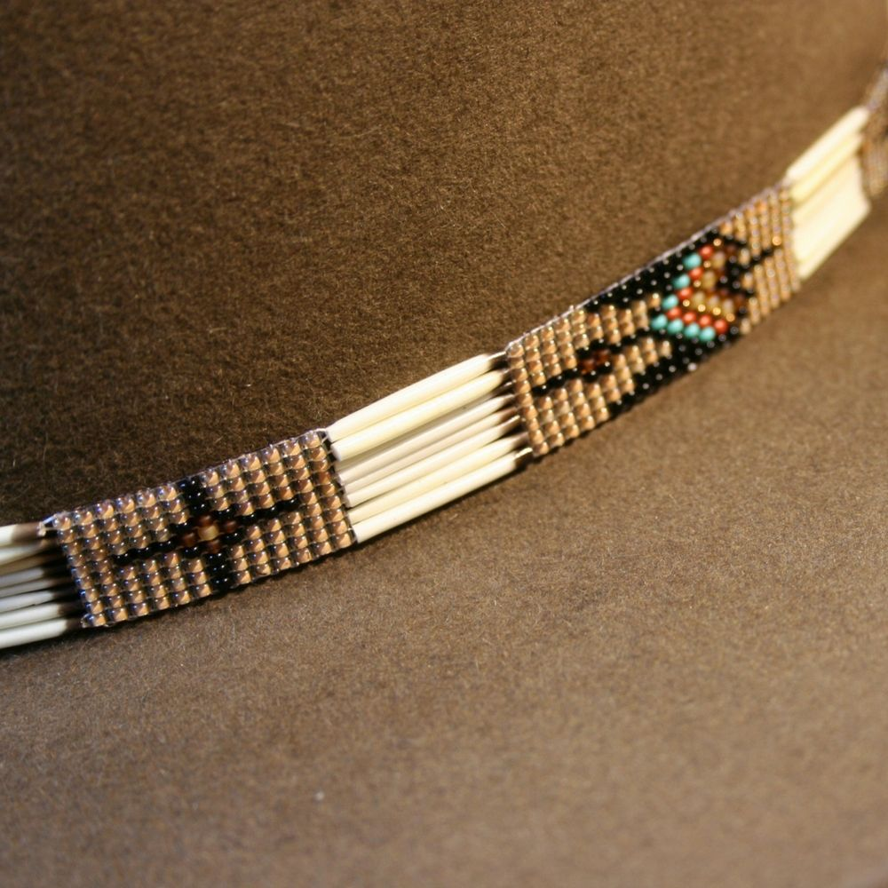 hand beaded western Native style bracelet