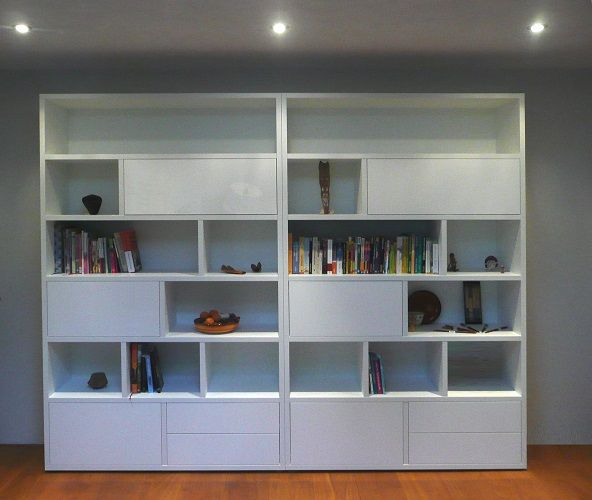 Image result for boekenkast modern hoog wit cupboard pinterest modern and cupboard - Moderne boekenkast ...