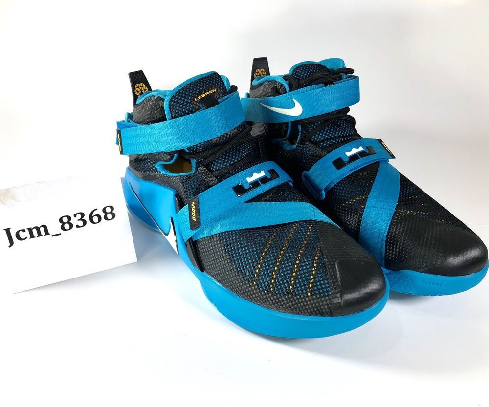 4342d85a824 Nike Lebron Soldier IX 776471-014 Used Blue Basketball Shoes Kid Sneakers  Sz 7Y  fashion  clothing  shoes  accessories  kidsclothingshoesaccs   boysshoes ...