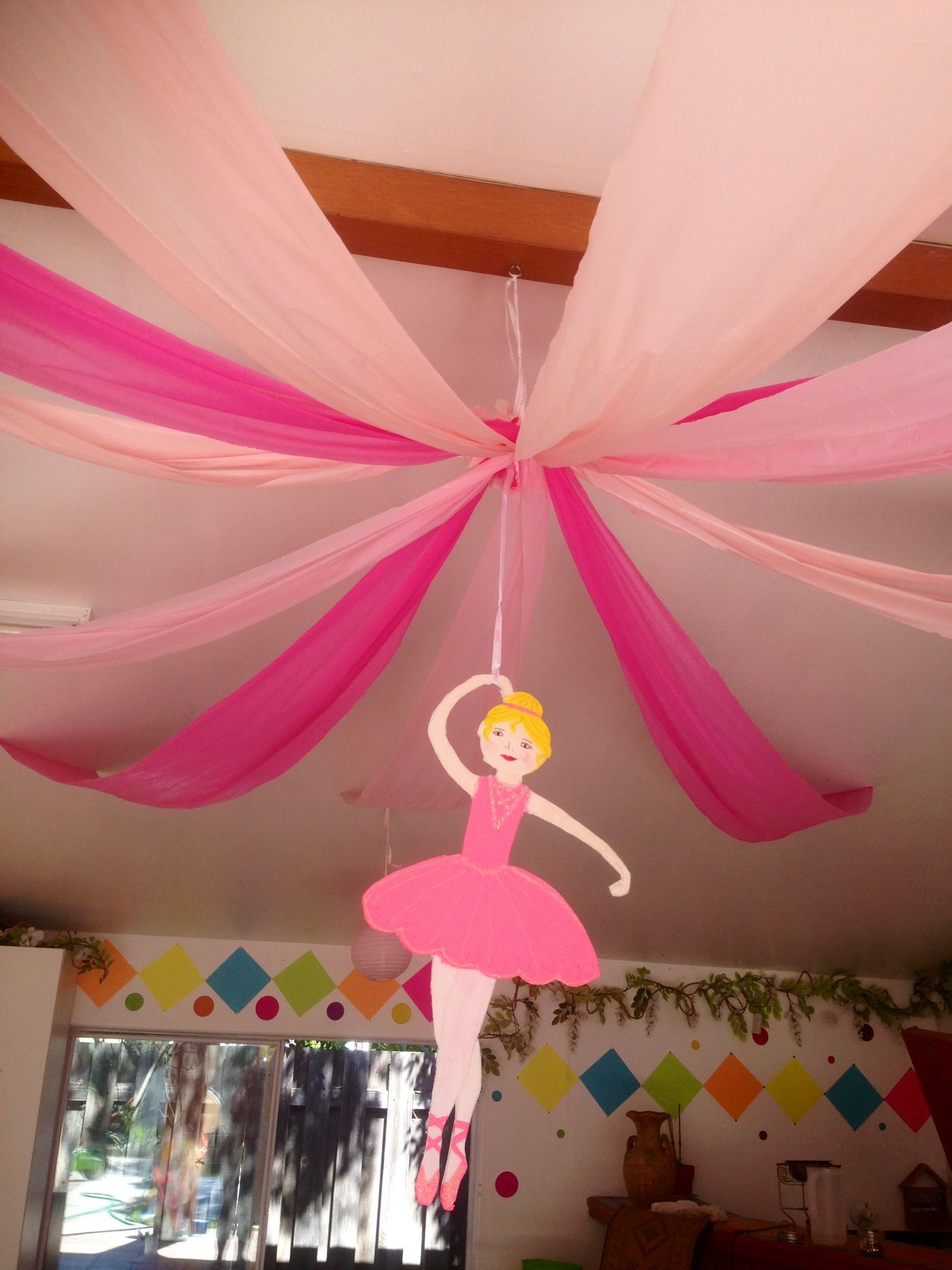 Ceiling decorations for ballerina party my parties all for Ballerina decoration