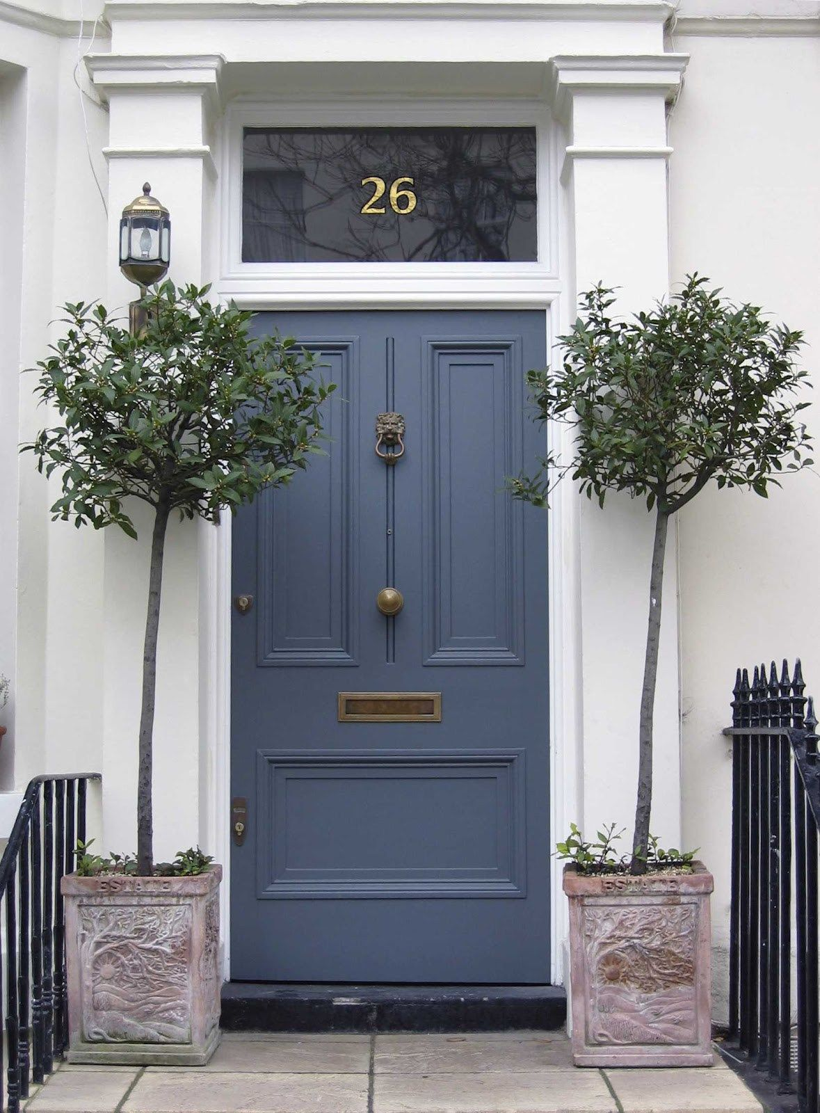 Front door ideas potted trees paint colors and navy blue color in front door ideas potted trees paint colors and navy blue color in colored front doors what rubansaba