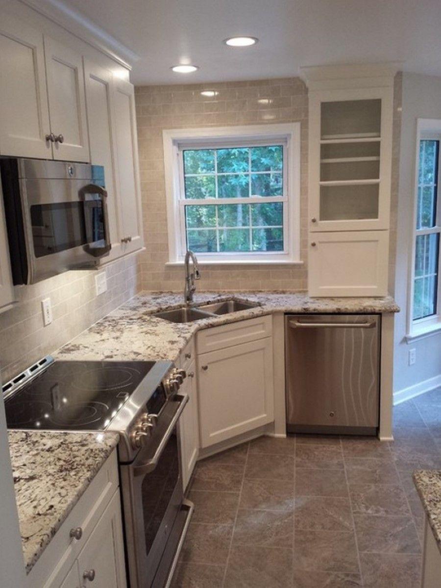 fabulous-corner-kitchen-sink-and-small-window-idea-plus-beautiful ...