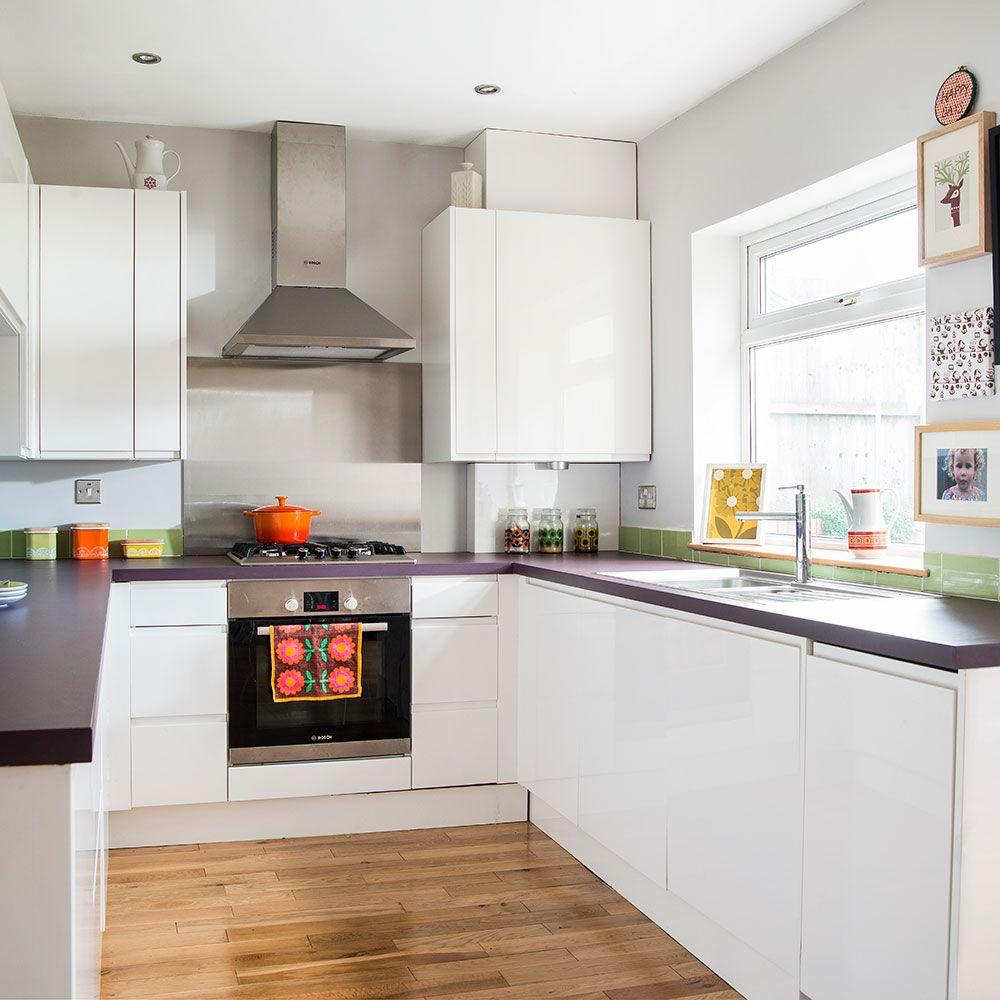 Light modern kitchen with polished wood floor | Kitchens | Pinterest ...