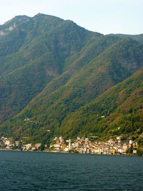 por lago di Como, Italia