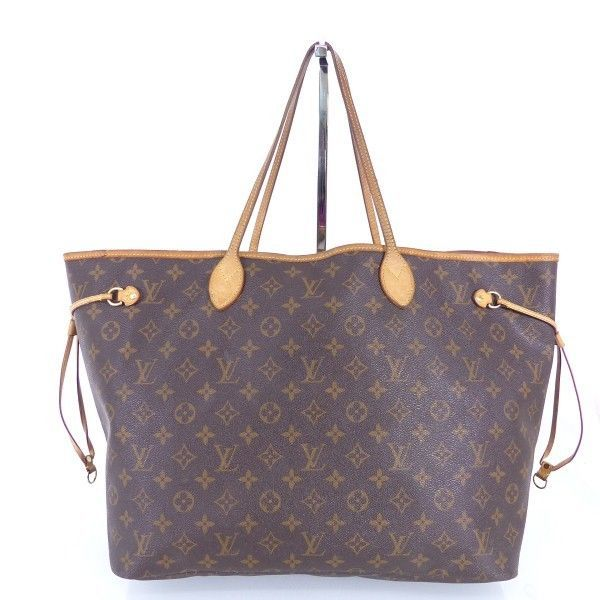 louis vuitton lv tasche bag neverfull braun monogram canvas luxus im506 bei secondherzog. Black Bedroom Furniture Sets. Home Design Ideas