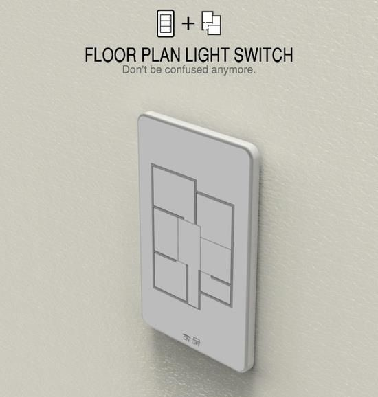 Floor layout light switch