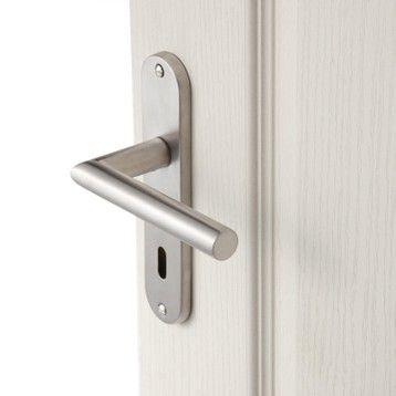 2 poignées de porte Sara trou de clé INSPIRE, acier inoxydable, 165