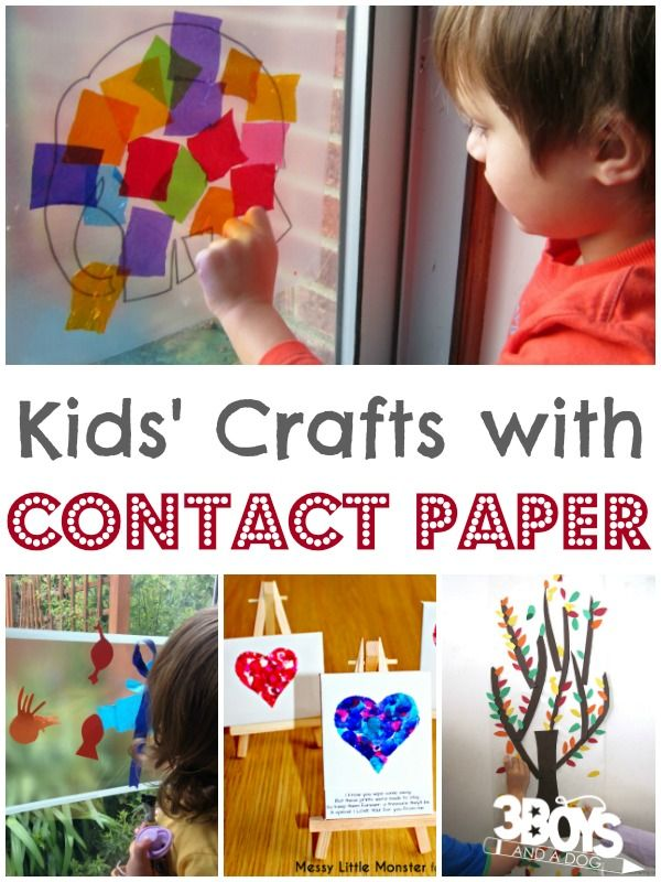 Kids Contact Paper Crafts Crafts Craft Ideas For Kids Pinterest