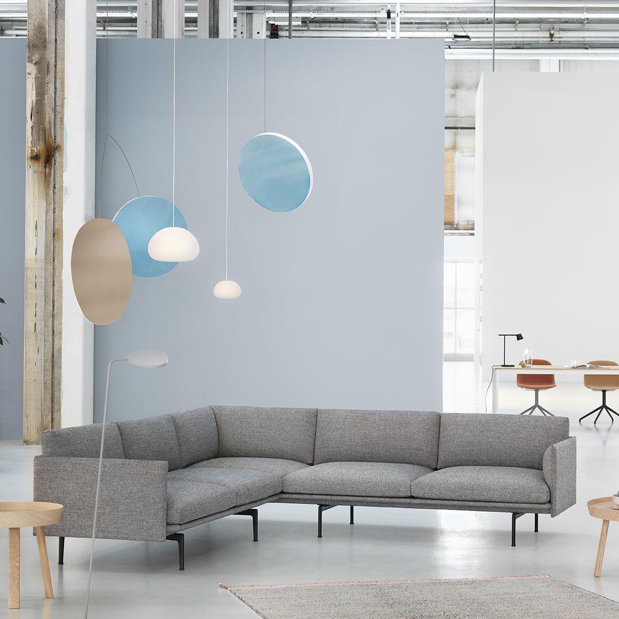 Minimal Corner Sofa Home Decor Inspiration From Muuto Embodying Refined And Elegant Des Scandinavian Sofa Design Corner Sofa Design Scandinavian Corner Sofa