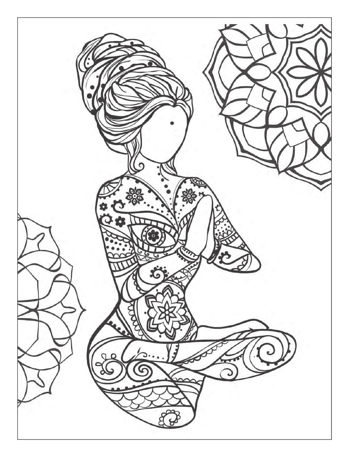 ClippedOnIssuu Desde Yoga And Meditation Coloring Book For Adults With Poses Mandalas