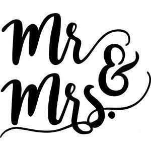 Mr Mrs Bride Groom Wedding Vinyl Car Decal Bumper Window Silhouette Design Lettering Silhouette Cameo Projects