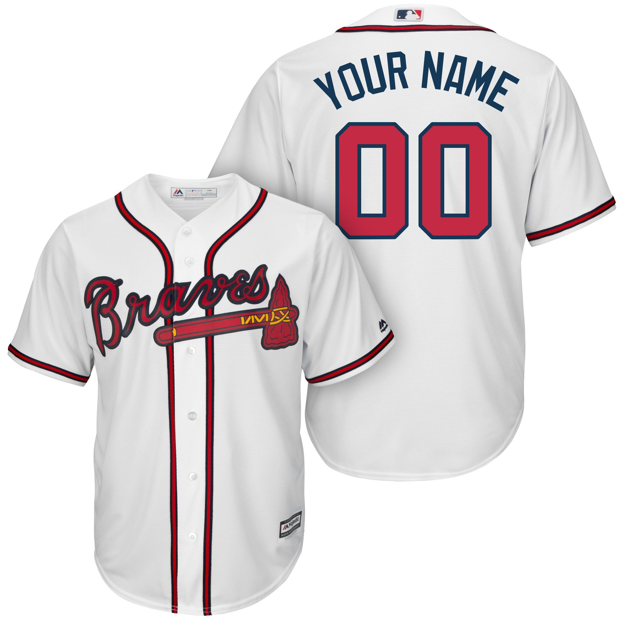 Big And Tall Custom Atlanta Braves Mlb Jerseys T Shirts Hoodies Add Any Name From The Braves Ros Braves Jersey Custom Baseball Jersey Atlanta Braves Jersey