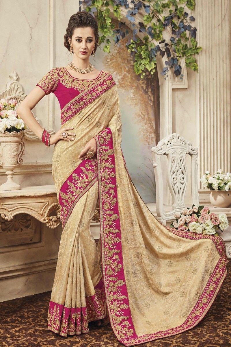 Pure silk saree beige pure silk two tone designer saree  online store  pinterest