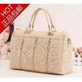 HOT korea style New Arrived leather lace handbag romantic messenger bag free ship factory sale
