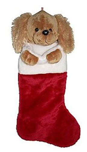 21 Inch Plush Brown Dog Puppy Head Christmas Stocking You Can Get