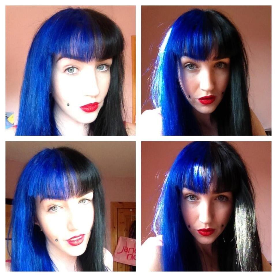 Splat Blue Envy and Jet Black | Beauty face, Love hair ...