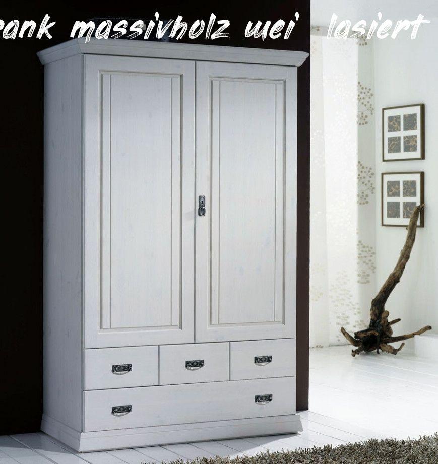 8 Kleiderschrank Massivholz Weiß Lasiert Tall Cabinet Storage Storage Cabinet Tall Storage