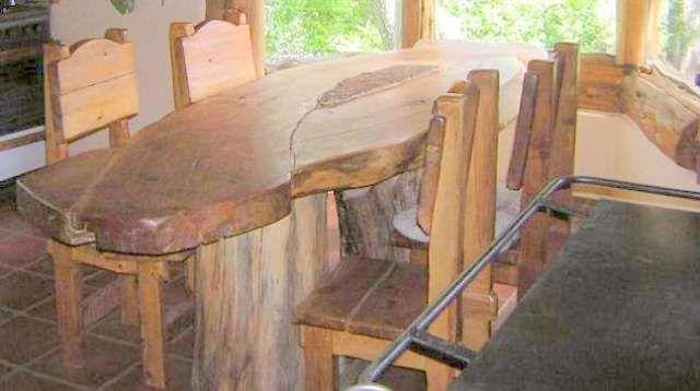Muebles rusticos de madera fabrico y dise o en r o negro - Disenos para muebles de madera ...