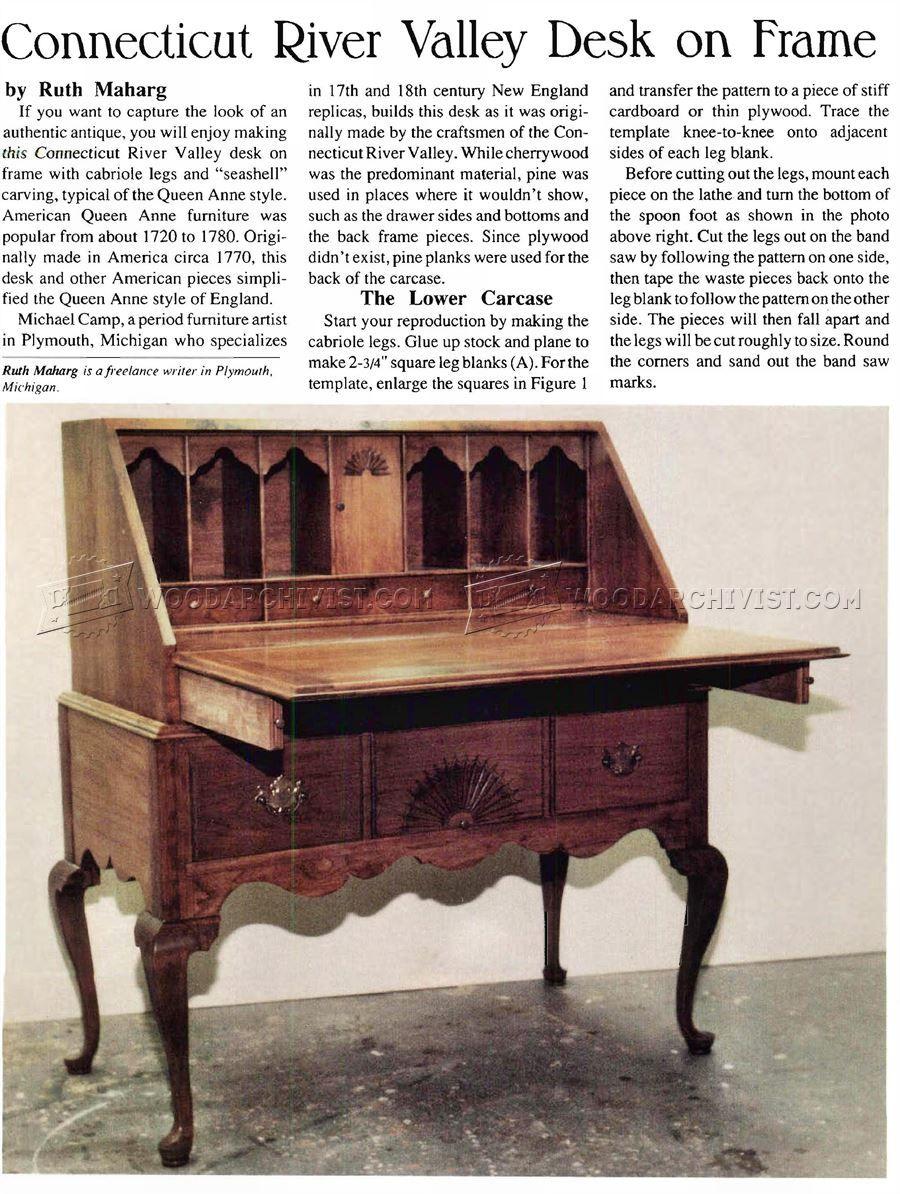 Secretary desk furniture plans - Furniture 952 Secretary Desk Plans
