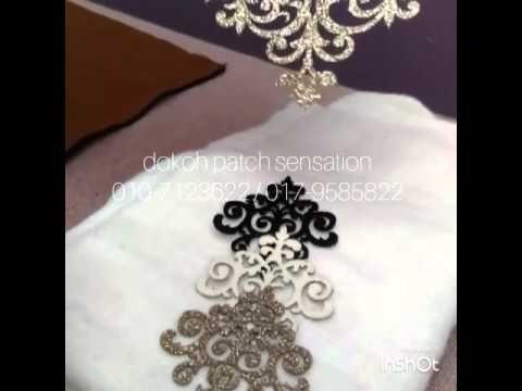 Menampal lace menggunakan pelekat double sided - YouTube