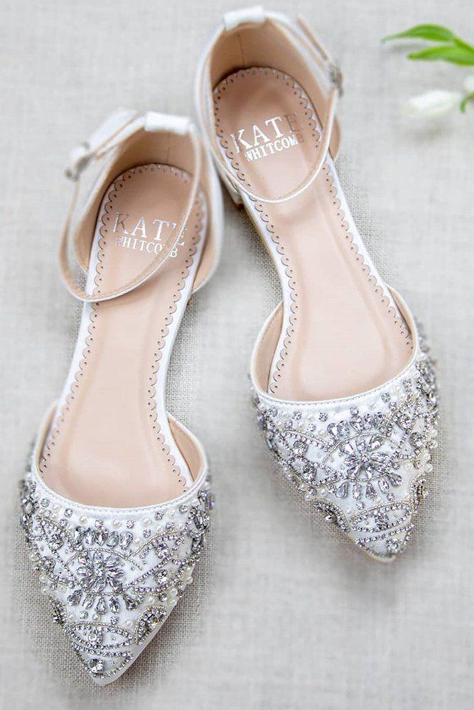 27 Flat Wedding Shoes For Comfort Style Wedding Forward Bridal Shoes Flats Wedding Shoes Block Heel Ivory Bridal Shoes