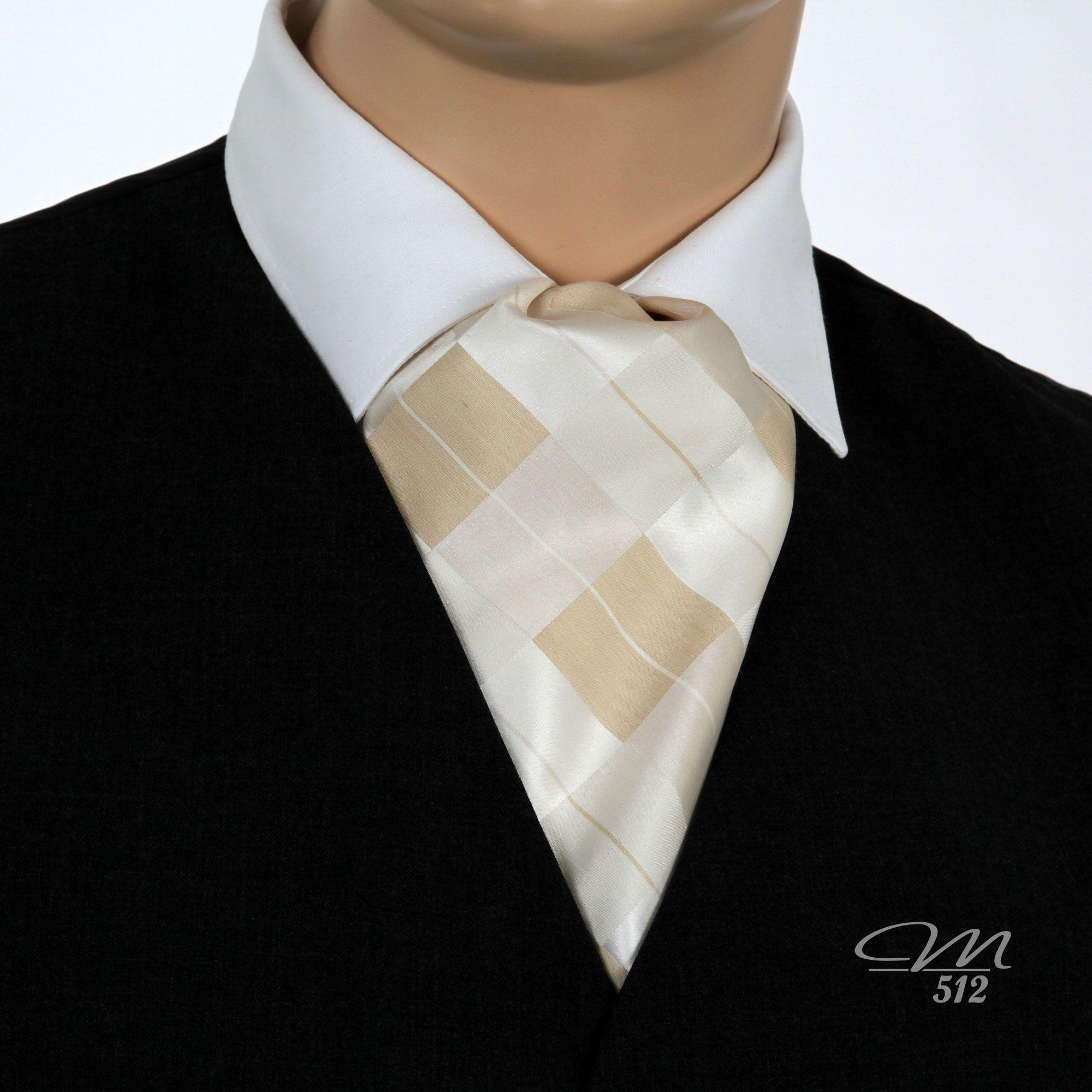 Seiden-Krawattenschal Raute Creme zart gestreift - Manufaktur 512 - Einzigartige #Accessoires in #Handarbeit. +++…