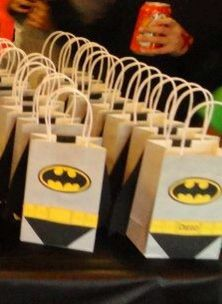Batman candy bags for birthday party