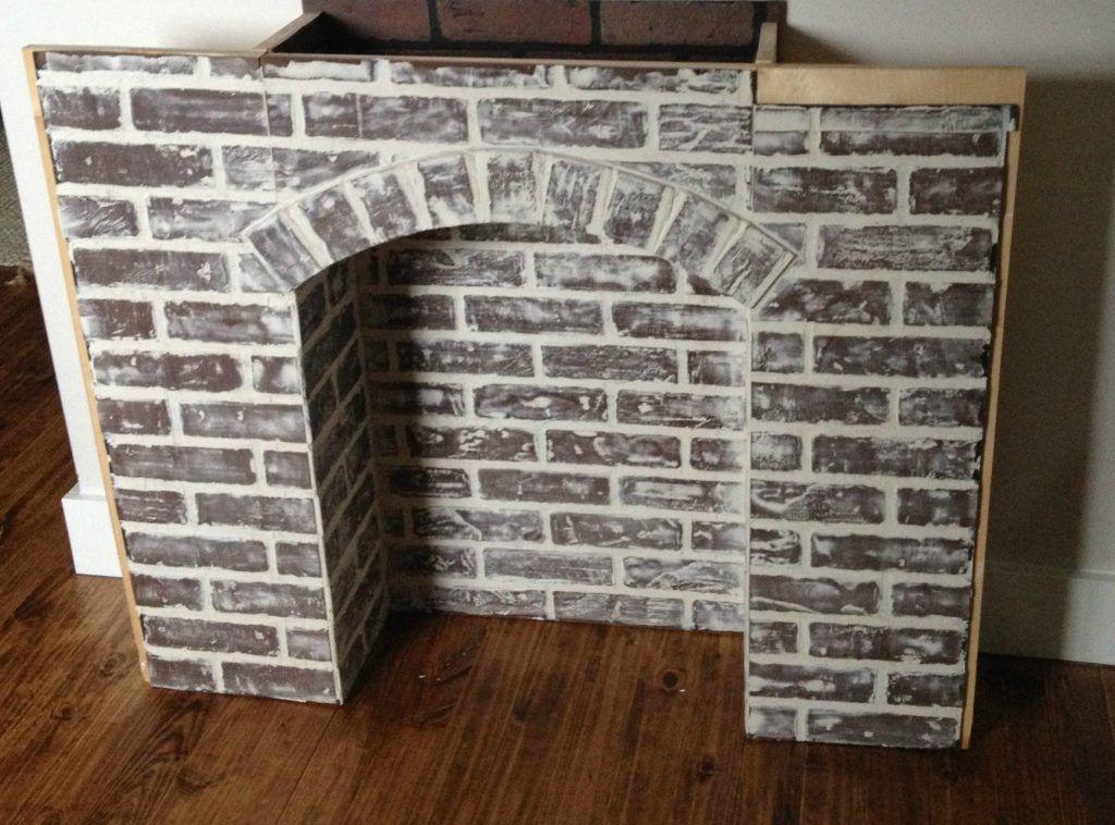 You Better Fake It--DIY Fake Brick Fireplace | Fake brick