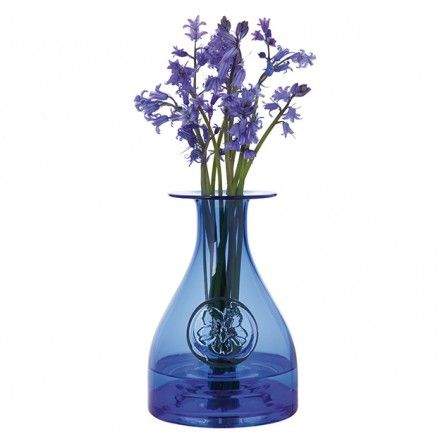 Flower Bottle Blue - Flower Bottles - Living Glass Collections - Collections | Dartington Crystal - Vase - Glass